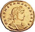 Ancients:Roman Imperial, Ancients: Constans, as Caesar (AD 324-337). AV solidus (22mm, 4.45 gm, 6h). ...