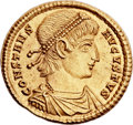 Ancients:Roman Imperial, Ancients: Constans (AD 337-350). AV solidus (22mm, 4.51 gm,6h). ...