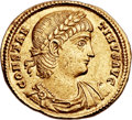 Ancients:Roman Imperial, Ancients: Constantine II (AD 337-340). AV solidus (21mm, 4.47 gm, 6h)....