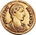 Ancients:Roman Imperial, Ancients: Julian II as Caesar (AD 355-360). AV solidus (21mm, 4.31 gm, 6h). ...
