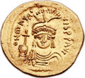 Ancients:Byzantine, Ancients: Maurice Tiberius (AD 582-602). AV solidus (22mm, 4.36 gm, 7h)....
