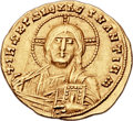 Ancients:Byzantine, Ancients: Constantine VII, with Romanus II (AD 913-959). AV solidus(20mm, 4.40 gm, 6h)....