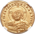 Ancients:Byzantine, Ancients: Constantine VII, with Romanus II (AD 913-959). AV solidus(19mm, 4.37 gm, 7h)....