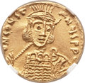 Ancients:Byzantine, Ancients: Constantine IV (AD 668-685). AV solidus (19mm, 4.41 gm, 6h)....