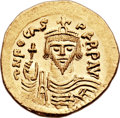 Ancients:Byzantine, Ancients: Phocas (AD 602-610). AV solidus (21mm, 4.51 gm, 6h)....