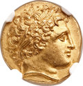 Ancients:Greek, Ancients: MACEDONIAN KINGDOM. Philip II (359-336 BC). AV stater(18mm, 8.48 gm, 11h)....