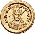 Ancients:Roman Imperial, Ancients: Theodosius II, Eastern Roman Emperor (AD 402-450). AVsolidus (21mm, 4.48 gm, 6h)....
