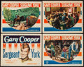 "Movie Posters:War, Sergeant York (Warner Brothers, 1941/R-1949). Lobby Cards (3) &Title Lobby Card (11"" X 14""). War.. ... (Total: 4 Items)"