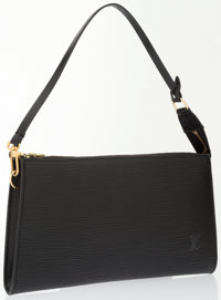 Louis Vuitton Black Epi Leather Pochette Bag
