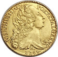 British West Indies, British West Indies: Brazil gold 6400 Reis 1769-R West IndiesImitation,...