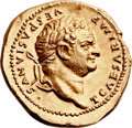 Ancients:Roman Imperial, Ancients: Titus, as Caesar (AD 69-79). AV aureus (21mm, 7.48 gm, 6h). ...