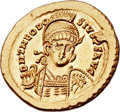 Ancients:Roman Imperial, Ancients: Theodosius II, Eastern Roman Emperor (AD 402-450). AVsolidus (22mm, 4.46 gm, 6h). ...