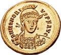 Ancients:Roman Imperial, Ancients: Honorius, Western Roman Emperor (AD 393-423). AV solidus(21mm, 4.48 gm, 6h). ...