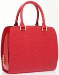 Luxury Accessories:Bags, Louis Vuitton Red Epi Leather Pont Neuf Bag . ...