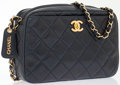 Luxury Accessories:Bags, Chanel Navy Quilted Lambskin Leather Camera Bag . ...