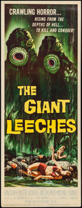 "Movie Posters:Horror, The Giant Leeches (American International, 1959). Insert (14"" X 36""). Horror.. ..."