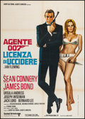 "Movie Posters:James Bond, Dr. No (United Artists, R-1981). Italian 2 - Foglio (39.25"" X 55""). James Bond.. ..."