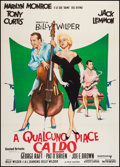 "Movie Posters:Comedy, Some Like It Hot (United Artists, R-1970). Italian 2 - Foglio (39.5"" X 55""). Comedy.. ..."