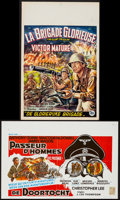 """Movie Posters:War, The Glory Brigade & Other Lot (20th Century Fox, 1953). BelgianPosters (2) (14"""" X 21""""). War.. ... (Total: 2 Items)"""