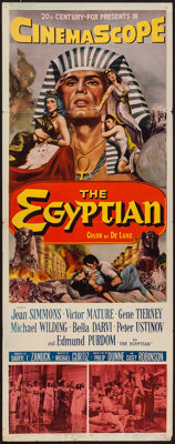 "The Egyptian (20th Century Fox, 1954). Insert (14"" X 36""). Historical Drama"