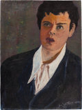 Movie/TV Memorabilia:Original Art, An Orson Welles Oil Painting by Gus Schilling, 1941....
