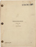 "Movie/TV Memorabilia:Documents, An Orson Welles Script with a Different Ending from ""TheMagnificent Ambersons.""..."