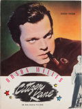 "Movie/TV Memorabilia:Documents, An Orson Welles Souvenir Program from ""Citizen Kane.""..."
