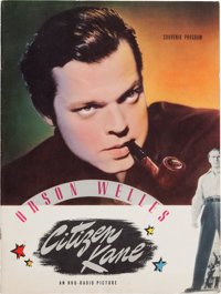 "An Orson Welles Souvenir Program from ""Citizen Kane."""