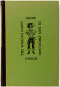 Books:Literature 1900-up, Mark Twain. The Washoe Giant in San Francisco. GeorgeFields, 1938. First edition, first printing. Publisher's green...