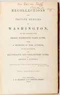 Books:Americana & American History, Benson J. Lossing, editor. Recollections and Private Memoirs ofWashington. Philadelphia: J.W. Bradley, 1861. Later ...