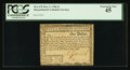 Colonial Notes:Massachusetts, Uncancelled Massachusetts May 5, 1780 $1 PCGS Extremely Fine 45.....