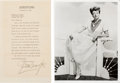Movie/TV Memorabilia:Autographs and Signed Items, A Joan Crawford Signed Letter, 1951.. ...