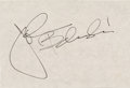 Movie/TV Memorabilia:Autographs and Signed Items, A John Belushi Signature, Circa 1970s....