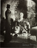 Movie/TV Memorabilia:Autographs and Signed Items, A Sir Laurence Olivier Signed Bookweight Photo from Hamlet....