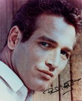 Movie/TV Memorabilia:Autographs and Signed Items, A Paul Newman Signed Color Photograph, Circa 1980s....