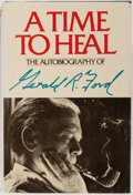 Books:Biography & Memoir, Gerald Ford. SIGNED. A Time to Heal. New York: Harper andRow/Reader's Digest, [1979]. First edition. Signed preside...