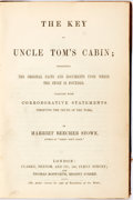 Books:Americana & American History, Harriet Beecher Stowe. The Key to Uncle Tom's Cabin. London: Clarke, Beeton and Co., [n.d.]. Octavo. Half calf and c...