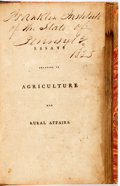 Books:Business & Economics, James Anderson. Essays relating to Agriculture and RuralAffairs. Dublin. Printed for P. Wogan, P. Byrne, And J. Moo...