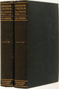 Books:Literature 1900-up, Carl Sandburg. SIGNED. Abraham Lincoln: The Prairie Years.New York: Harcourt Brace, [1926]. Later printing. Signed ...(Total: 2 Items)