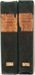 Books:Reference & Bibliography, Joseph Samuel C.F. Frey. A Hebrew, Latin and EnglishDictionary. London: Gale and Fenner, 1815. Two octavo volumes.... (Total: 2 Items)