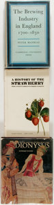 Books:Food & Wine, [Food and Beverage]. Three Related Titles, including: A Historyof the Strawberry; The Brewing History in England, 1700-... (Total:3 Items)