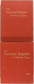 Books:Americana & American History, Ronald Greenberg, editor. The National Register of HistoricPlaces. Government Printing Office, 1976. Two large quar...(Total: 2 Items)