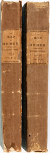 Books:Literature Pre-1900, The Iliad of Homer. Oxford: Munday and Slatter, 1821. Translated by a graduate of the University of Oxford. Two octavo v... (Total: 2 Items)