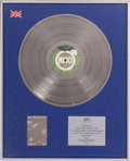 "Music Memorabilia:Awards, The Who ""Quadrophenia"" Silver Album Award...."