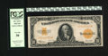 Large Size:Gold Certificates, Fr. 1173 $10 1922 Gold Certificate PCGS Very Fine 30.This attractive issue faces up like an ideal three fold Extra Fine....