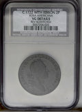 1722 2PENCE Rosa Americana Twopence with Ribbon--Reverse Scratched--NCS. VG Details. NGC Census: (0/0). PCGS Population...