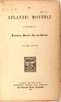 Books:Literature Pre-1900, [Harriet Beecher Stowe] Bound Atlantic Monthly With ArticlesDays With Mrs. Stowe and Story of Uncle Tom's C...
