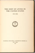 Books:Americana & American History, [Economics] The Cost of Living in the United States1914-1926. National Industrial Conference Board, Inc., 1926....