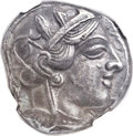 Ancients:Greek, Ancients: ATTICA. Athens. Ca. 454-404 BC. AR tetradrachm (23mm,17.13 gm, 9h)....
