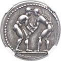 Ancients:Greek, Ancients: PAMPHYLIA. Aspendus. Ca. 420-370 BC. AR stater (22mm,10.91 gm, 12h). ...